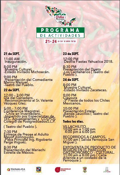 Presentan la 3a. Fiesta de Todos los Chiles Mexicanos en Yahualica