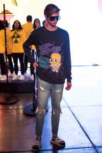 Anuar Layón x Los Simpson en MBFWMx PV19